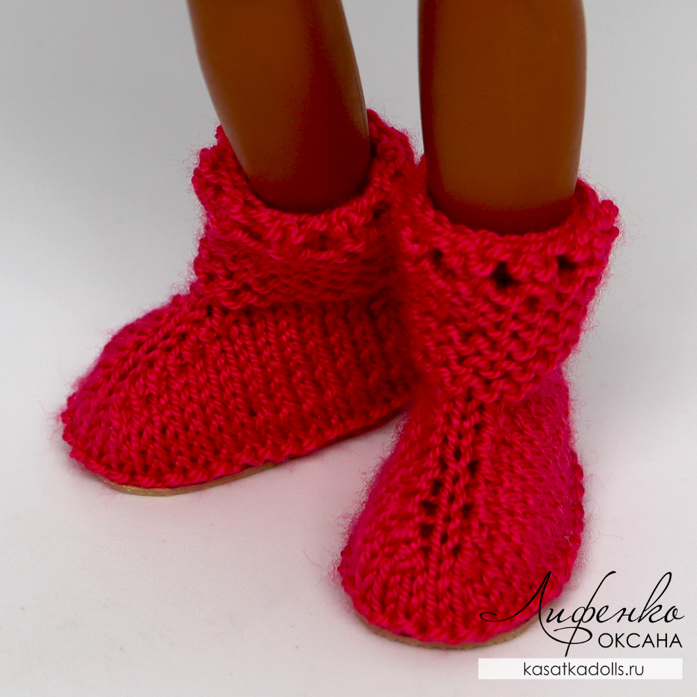 обувь спицами для кукол Kruselings