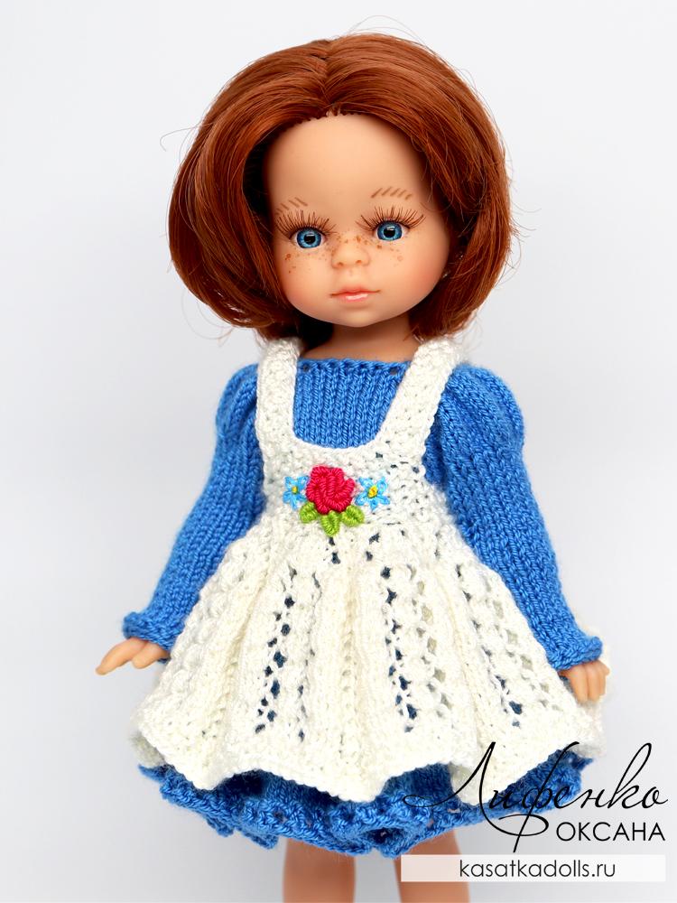 вязание спицами для кукол мини амигас паола рейна 21 см