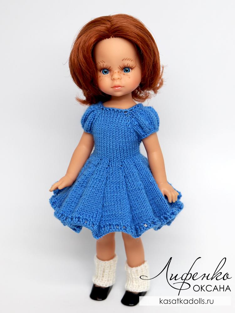 платье спицами для кукол мини подружки 21 см