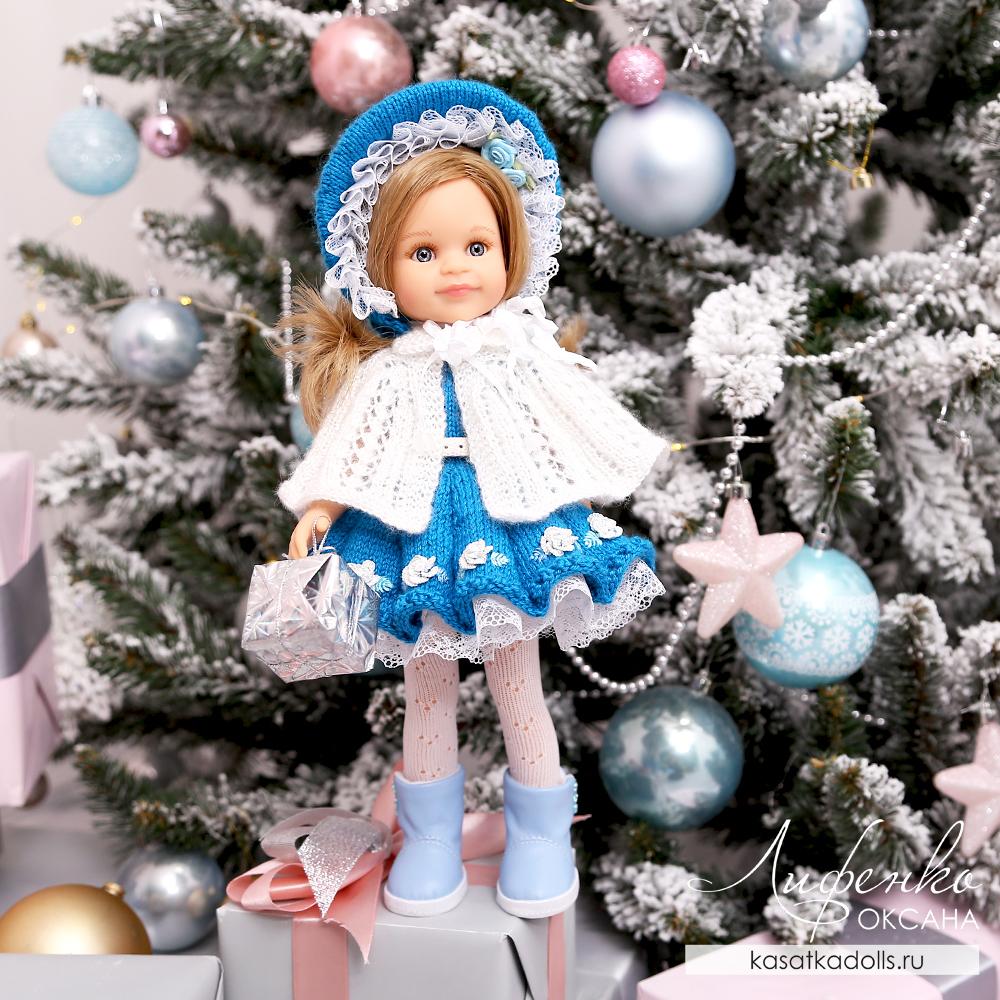 платье с капором для куклы Паола Рейна