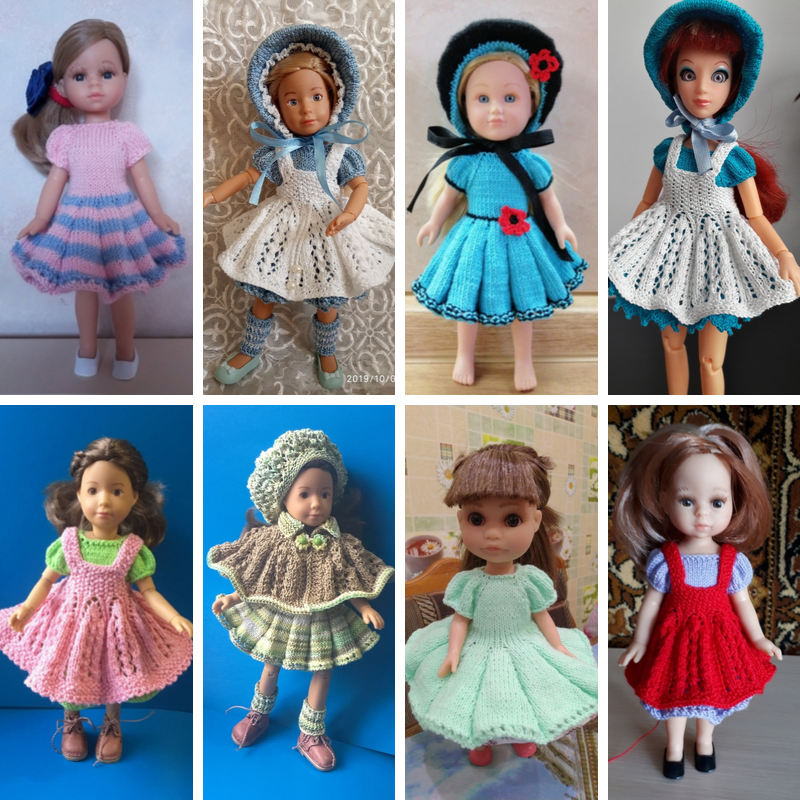 вязание спицами для кукол Паола Рейна