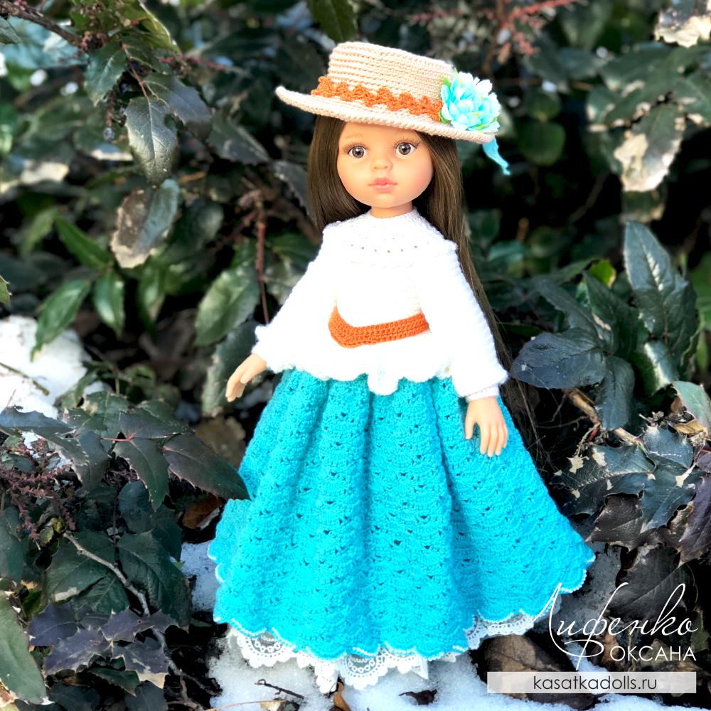Нарядное платье для куклы Паола Рейна