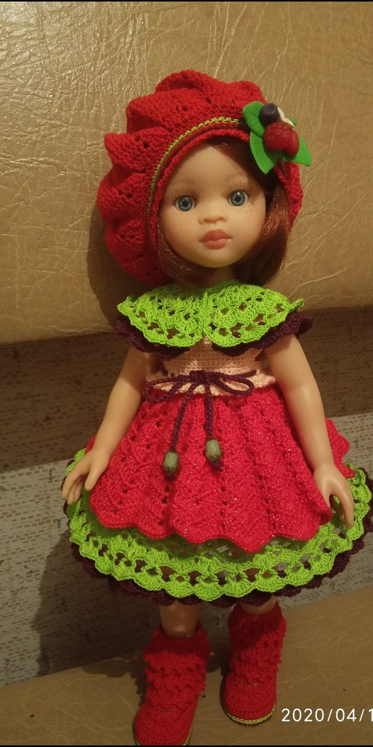 вязание крючком для кукол Паола Рейна
