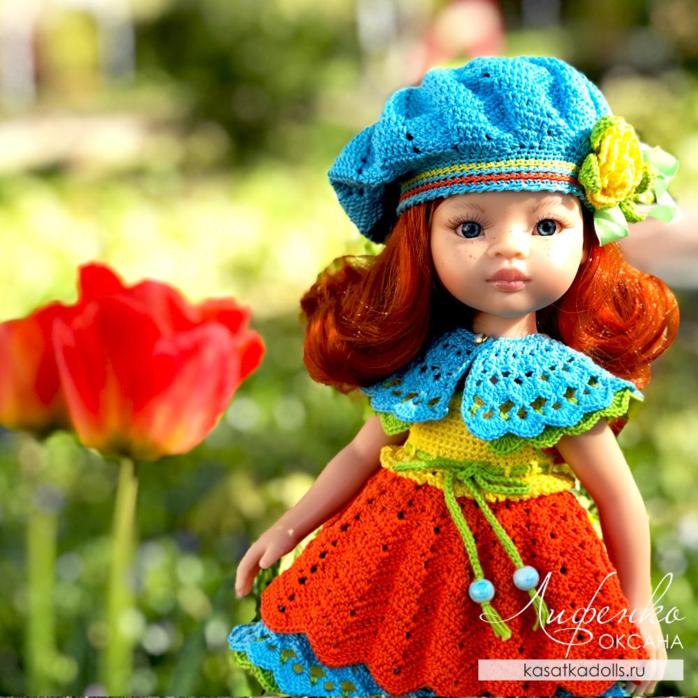 Вязание крючком для кукол Паола Рейна 32 см