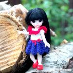 Видео и описание: платье крючком для маленькой куклы Baboliy 16 см