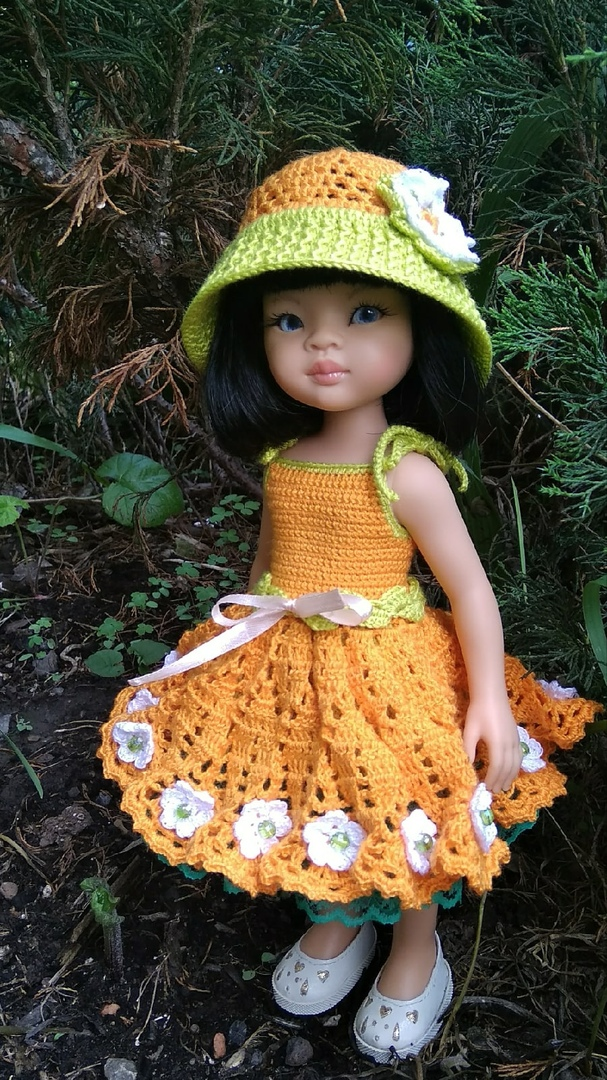 Вязание крючком для кукол Паола Рейна. МК Ромашки
