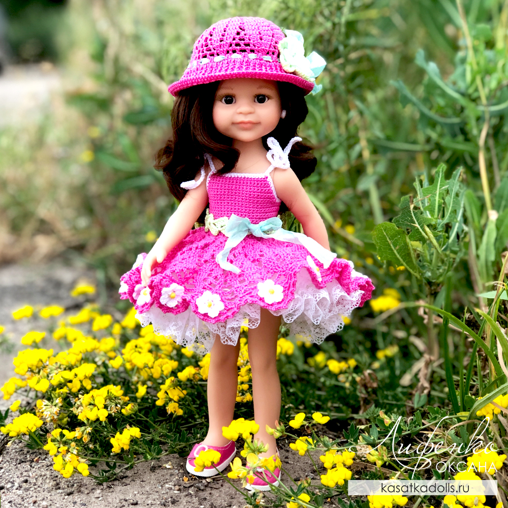 Мастер-класс для кукол Паола Рейна, вязание крючком