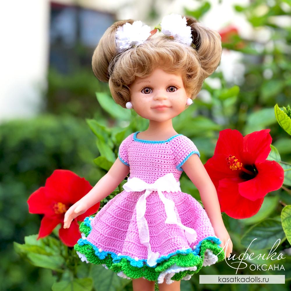 бесплатный мастер-класс Платье для куклы крючком