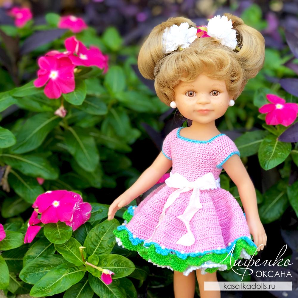 Платье для куклы крючком. Мастер-класс для начинающих