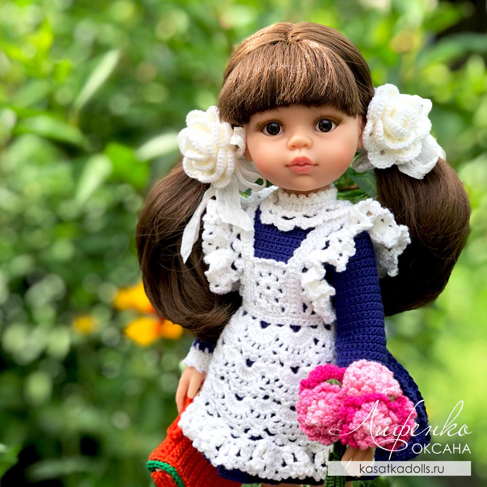 Школьная форма крючком для кукол Паола Рейна