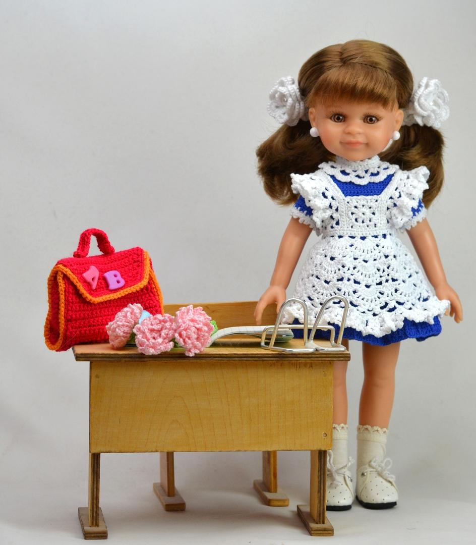 школьная форма для куклы крючком