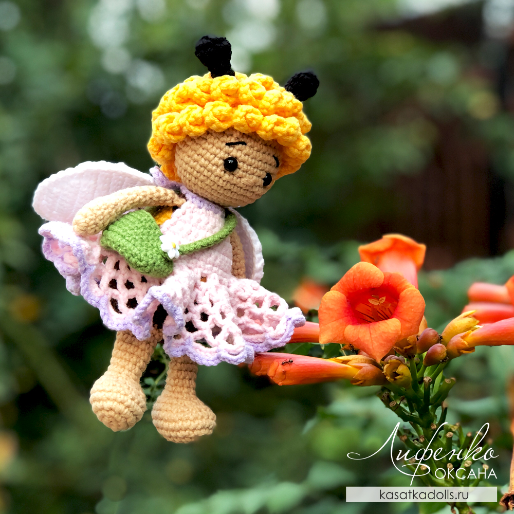 Мастер-класс по вязанию игрушки крючком Пчелка Мия